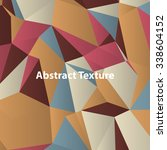 triangles with shades and... | Shutterstock .eps vector #338604152