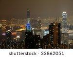 night scene of hong kong from... | Shutterstock . vector #33862051