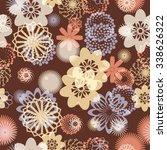 vector seamless pattern .... | Shutterstock .eps vector #338626322