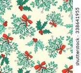 vector christmas seamless... | Shutterstock .eps vector #338641955