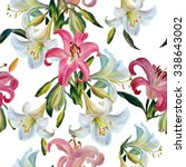 Seamless Floral Pattern.white...
