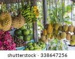open air fruit market in the... | Shutterstock . vector #338647256