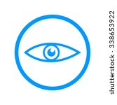 eye icon. flat design style  | Shutterstock . vector #338653922