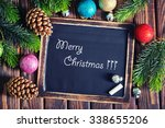 christmas decoration on the...   Shutterstock . vector #338655206