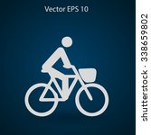 flat cyclist icon | Shutterstock .eps vector #338659802
