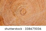 Wooden Background  Fresh Cut...