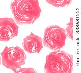 little roses pattern 9 | Shutterstock . vector #338681552