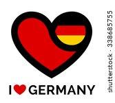 Heart Germany Flag Icon. I Love ...