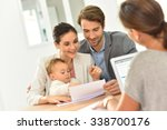 family meeting real estate... | Shutterstock . vector #338700176