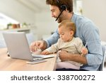 busy businessman working from...   Shutterstock . vector #338700272
