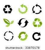 recycle icons | Shutterstock .eps vector #33870178