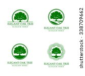 green oak tree logo vol 3 | Shutterstock .eps vector #338709662