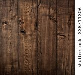 texture of wood  oak wood dark... | Shutterstock . vector #338711306