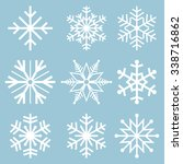 snowflake icons. snowflake...   Shutterstock .eps vector #338716862
