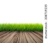 3d rendered wooden footpath... | Shutterstock . vector #338719235