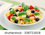 fresh pasta salad | Shutterstock . vector #338721818