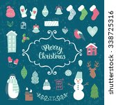 merry christmas decoration... | Shutterstock .eps vector #338725316