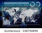 global business graph growth... | Shutterstock . vector #338740898