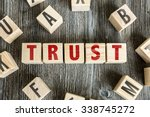 Small photo of Wooden Blocks with the text: Trust