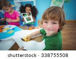 happy kids doing arts and... | Shutterstock . vector #338755508
