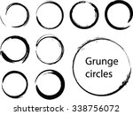 grunge circles.abstract round...   Shutterstock .eps vector #338756072