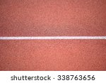 Small photo of White Line On All-weather Running Track Close-up