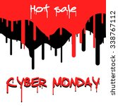 cyber monday hot sale. vector... | Shutterstock .eps vector #338767112