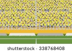 soccer field and crowd of... | Shutterstock .eps vector #338768408