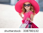 cute little girl in fashionable ...