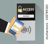 mobile nfc access control | Shutterstock .eps vector #338789282