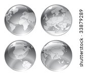 vector illustration of gray... | Shutterstock .eps vector #33879289