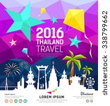 travel thailand new year with... | Shutterstock .eps vector #338799662