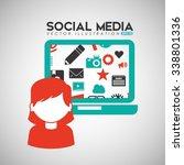 social media design  vector... | Shutterstock .eps vector #338801336