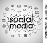 social media design  vector... | Shutterstock .eps vector #338801402