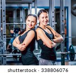 two strong women in the gym .... | Shutterstock . vector #338806076