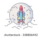 space rocket. technology... | Shutterstock .eps vector #338806442