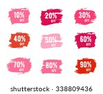 christmas sale percents  new... | Shutterstock .eps vector #338809436