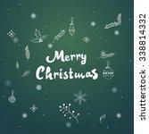 merry christmas vector... | Shutterstock .eps vector #338814332