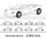 vector of different cars in... | Shutterstock .eps vector #33881566