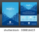brochure template design.... | Shutterstock .eps vector #338816615
