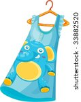 illustration of blue dress on... | Shutterstock .eps vector #33882520
