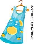 illustration of blue dress on...   Shutterstock .eps vector #33882520