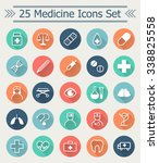set of 25 line medicine icons... | Shutterstock .eps vector #338825558