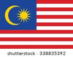 flag of malaysia. vector... | Shutterstock .eps vector #338835392