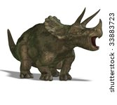 dinosaur triceratops. 3d render ... | Shutterstock . vector #33883723