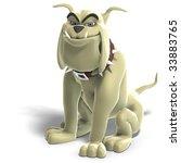 a smart comic dog. 3d render... | Shutterstock . vector #33883765
