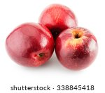 red apples isolated on the... | Shutterstock . vector #338845418