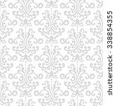 seamless pattern. floral... | Shutterstock .eps vector #338854355