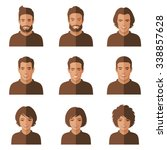 vector people faces. woman  man ... | Shutterstock .eps vector #338857628