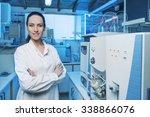 Beautiful Woman Scientist In...
